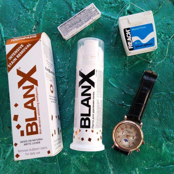 Blanx Intensive Stain Removal, коробка и диспенсер, 75 мл