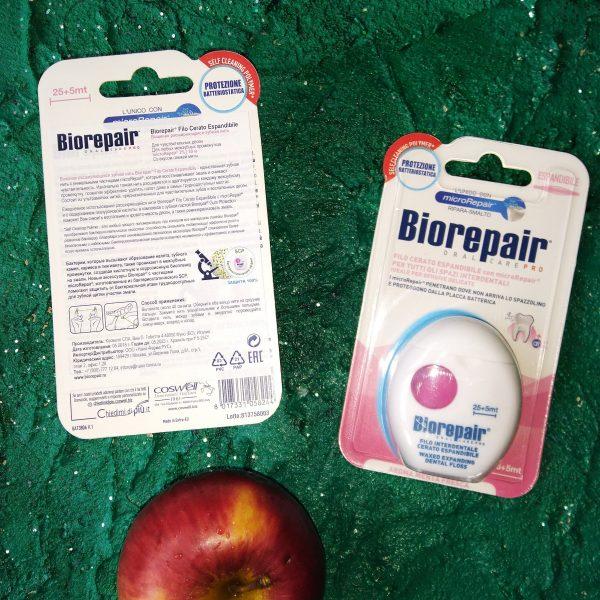 Зубная нить BioRepair Filo Cerata Espandibile (Биорипеа вощеная расширяющаяся), 30м