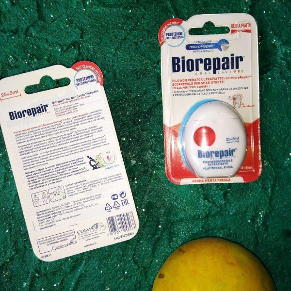 Зубная нить BioRepair Filo Noncerato Ultrapiatto (Биорипеа ультратонкая без воска), 30м