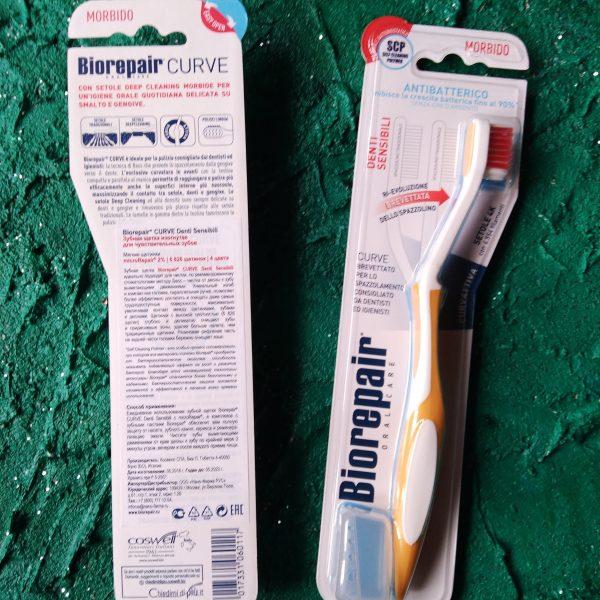 Зубная щетка BioRepair CURVE Denti Sensibili (щетка Кёрв для чувствительных зубов)