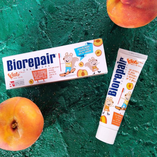 Зубная паста BioRepair Kids Peach (Детская зубная паста Биорипеа 0-6 лет персик), 50 мл